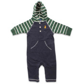 Rugged Bear Infant Boys' Hooded Coverall with Stripe