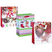 wholesale christmas gift bag glitter medium
