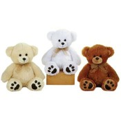 "13"" 3 Assorted Color Sitting Bears"