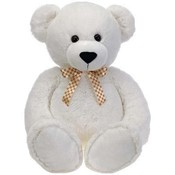 "38"" White Cuddle Bear W/Ribbon"