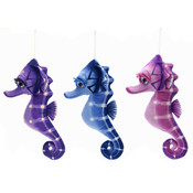 "15"" 3 Assorted Color Big Eyed Seahorses"