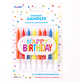 Wholesale Birthday Cake Decoration With 8 Candles SKU 2277015