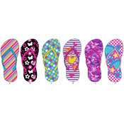 Girls Assorted Printed Flip Flops