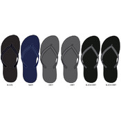 Mens Solid Color Flip Flops in Masculine Colors