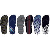 Men's Printed Basic Flip Flops