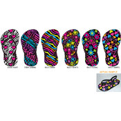 Toddler Girl's Printed Nubuck Flip Flops