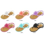 Toddler Girl PCU Sandals with Chiffon Flower