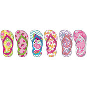 Toddler Girl's Summer Printed Flip Flops with Back Strap