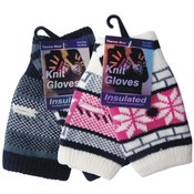 Women's Fingerless Print Knitted Gloves