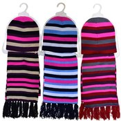 Striped Hats and Scarves Set