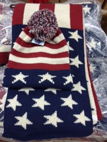 Wholesale Winter Usa Design Hat And Scarf Set Sku 1931517