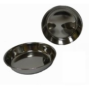 Low Profile Stainless Steel Cat Bowl Dish - 8 Oz.