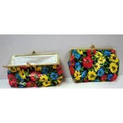 Floral Design Snap-Closure Coin Purse Wallet
