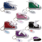 Hi-Top Canvas Sneaker Keychains