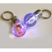 Flashing Light bulb Keychain