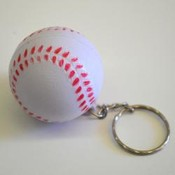 Soft Baseball Keychain