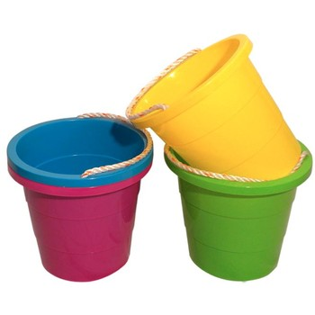 wholesale bright 1 5 gallon plastic pail with rope handle sku 2011089 dollardays. Black Bedroom Furniture Sets. Home Design Ideas