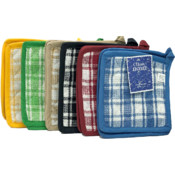 Plaid Pot Holders, 2pk