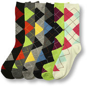 Women's Argyle Crew Socks - Size 9-11