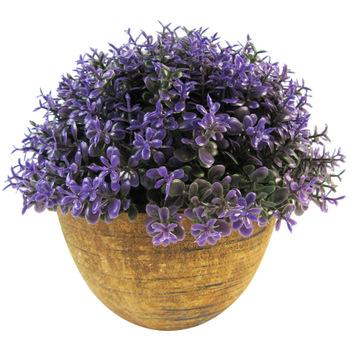 Wholesale artificial plants wholesale artificial flowers dollardays mini artificial purple topiary in pot mightylinksfo