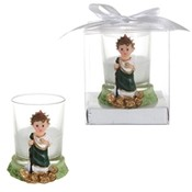Baby St. Judas Poly Resin Candle Set in Gift Box - White