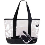 See-Through Clear Tote Bag - Clear