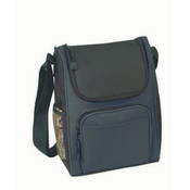 Deluxe Insulated Poly Lunch Bag [Black]
