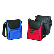 Deluxe Insulated Poly Lunch Bag [Red/Black]