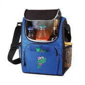 Deluxe Insulated Poly Lunch Bag [Royal/Black]