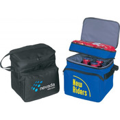 Deluxe Poly Cooler with Lunch Bag [Black] - Style #033