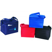 6 Pack Poly Cooler [Red] - Style #051