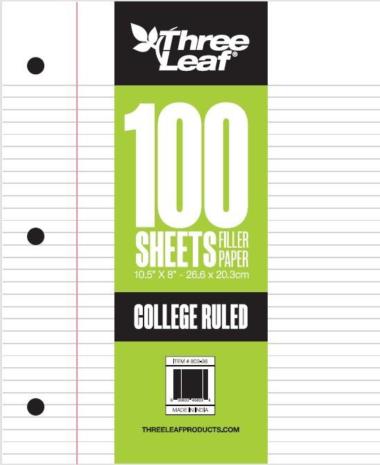 Bulk Jot Loose-Leaf College-Ruled Paper, Sheet Packs | Dollar Tree