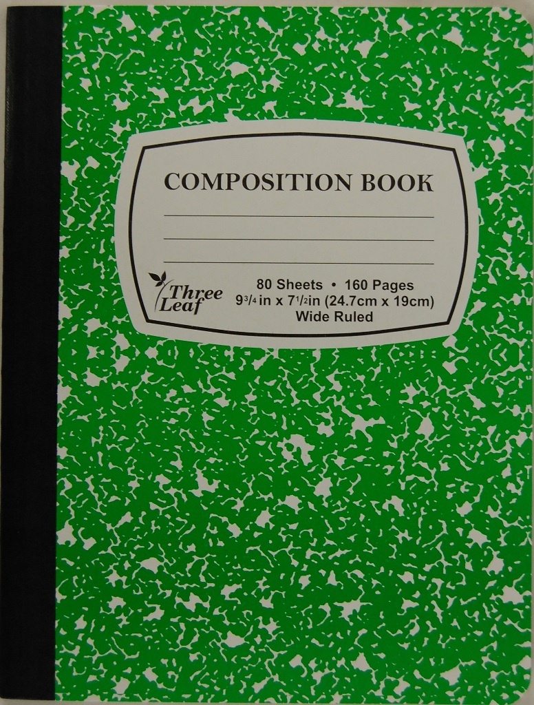 Wholesale Green Marble Composition Notebook Sku 1934721