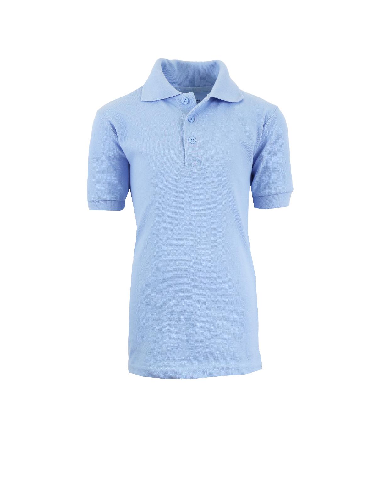 ba196fc0 Wholesale Adult School Light Blue Uniform Short Sleeve Polo Shirts ...