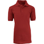 Adult Burgundy School Uniform Polo Shirt - Size 2XL