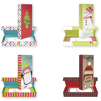christmas holiday embellished tall gift card and gift boxes - Christmas Gift Boxes Wholesale