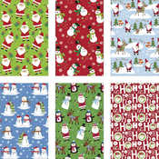 35 sqft Holiday Gift Roll Wrap - Juvenile Designs - Holiday Characters