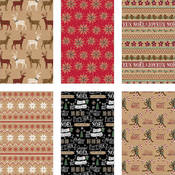 20 sqft Holiday Kraft Gift Roll Wrap - Lodge series