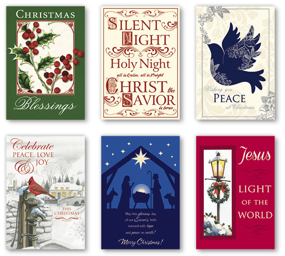 Wholesale 36 Count Value Boxed Christmas Cards Religious
