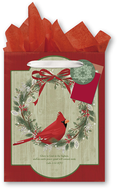 Wholesale Religious Christmas Medium Gift Bag With Tissue
