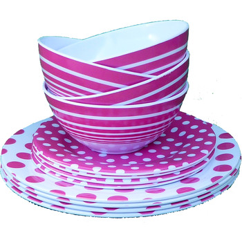 3 Piece Melamine Dinnerware Set - Magenta  sc 1 st  DollarDays & Wholesale Melamine Dinnerware - Wholesale Melamine Plates - Discount ...