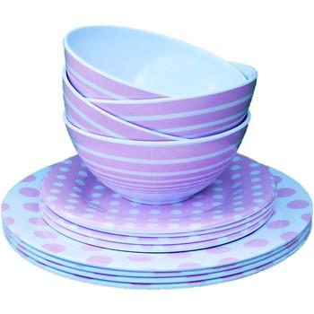3 Piece Melamine Dinnerware Set - Pink  sc 1 st  DollarDays & Wholesale Melamine Dinnerware - Wholesale Melamine Plates - Discount ...