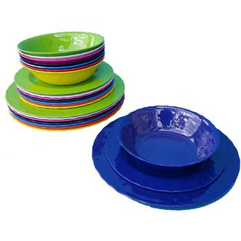 3 Piece Melamine Dinnerware Set Solid - Blue  sc 1 st  DollarDays & Wholesale Melamine Dinnerware - Wholesale Melamine Plates - Discount ...
