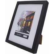 "Italia Picture Frame - Black Wood 8"" x 10"""