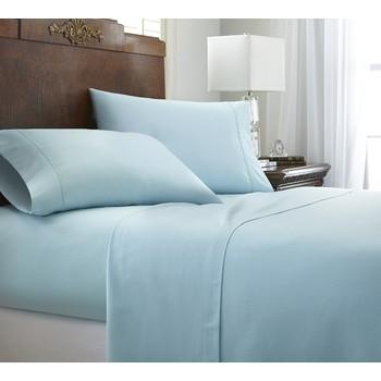 soft essentials premium embossed chevron design 4 piece bed sheet set full aqua