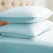 Soft Essentials Double-Brushed Microfiber 2 Piece Pillow Case Set - Aqua - Standard