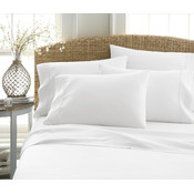 Soft Essentials Premium Double Brushed 4 Piece Sheet Set (Twin - White)