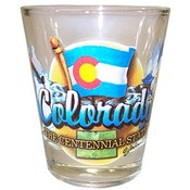 "Colorado Shot Glass 2.25H X 2"" W Elements"