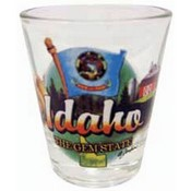 "Idaho Shot Glass 2.25H X 2"" W Elements"