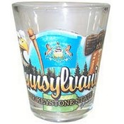 "Pennsylvania Shot Glass 2.25H X 2"" W Elements"